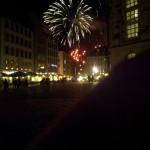 Der krönender Abschluss das jährliche Feuerwerk