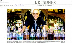 Mit Bartender David Georgi